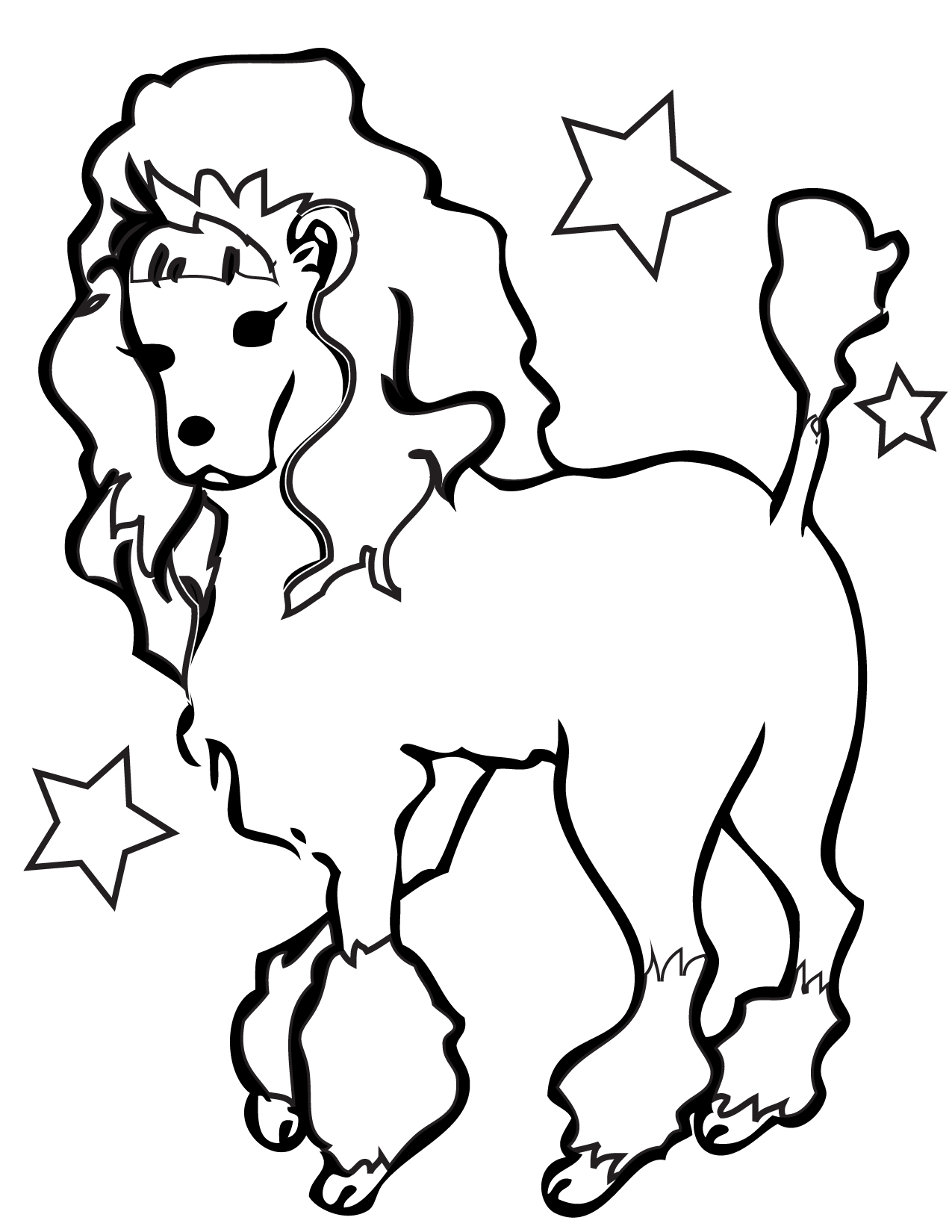 coloring book pages dogs - photo#11