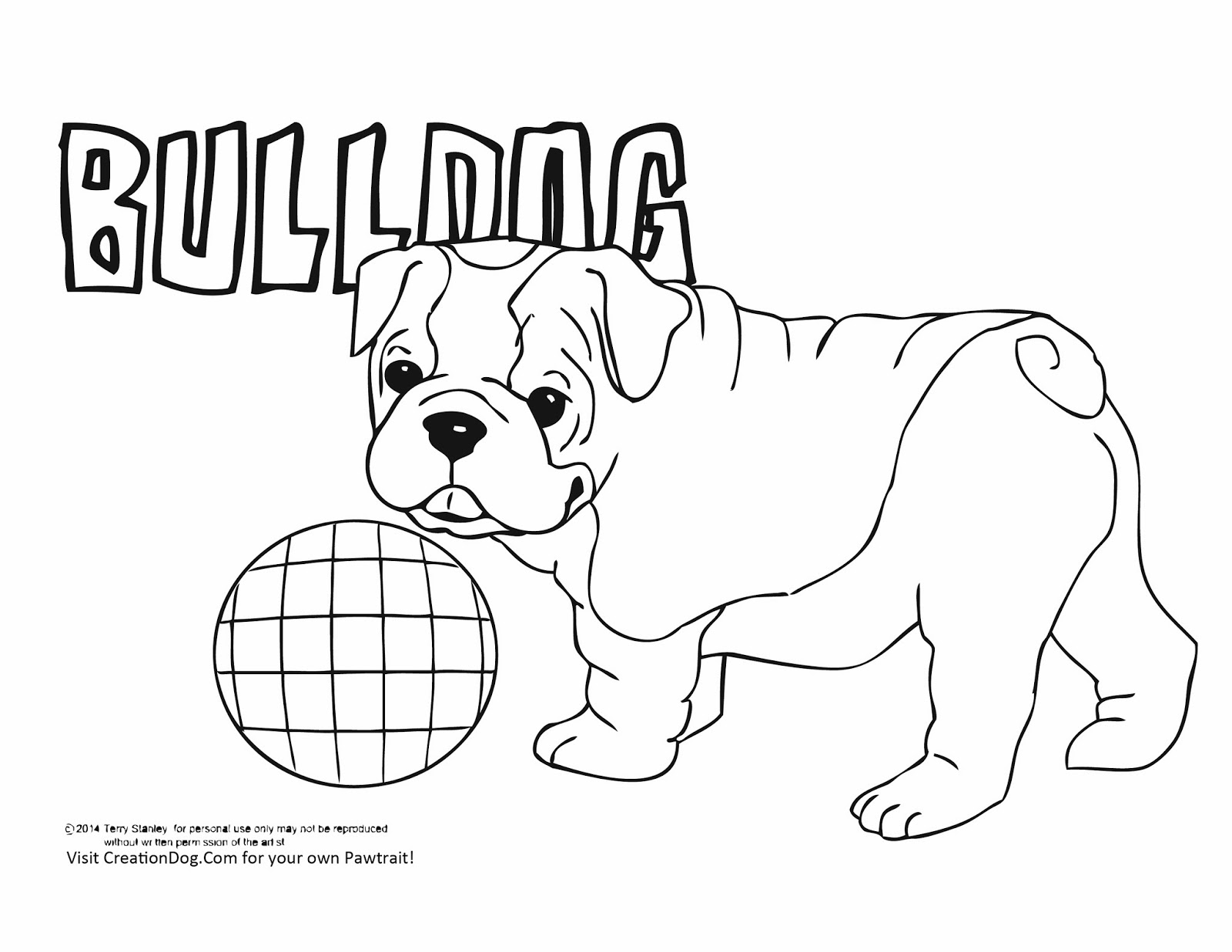 Bulldog coloring pages
