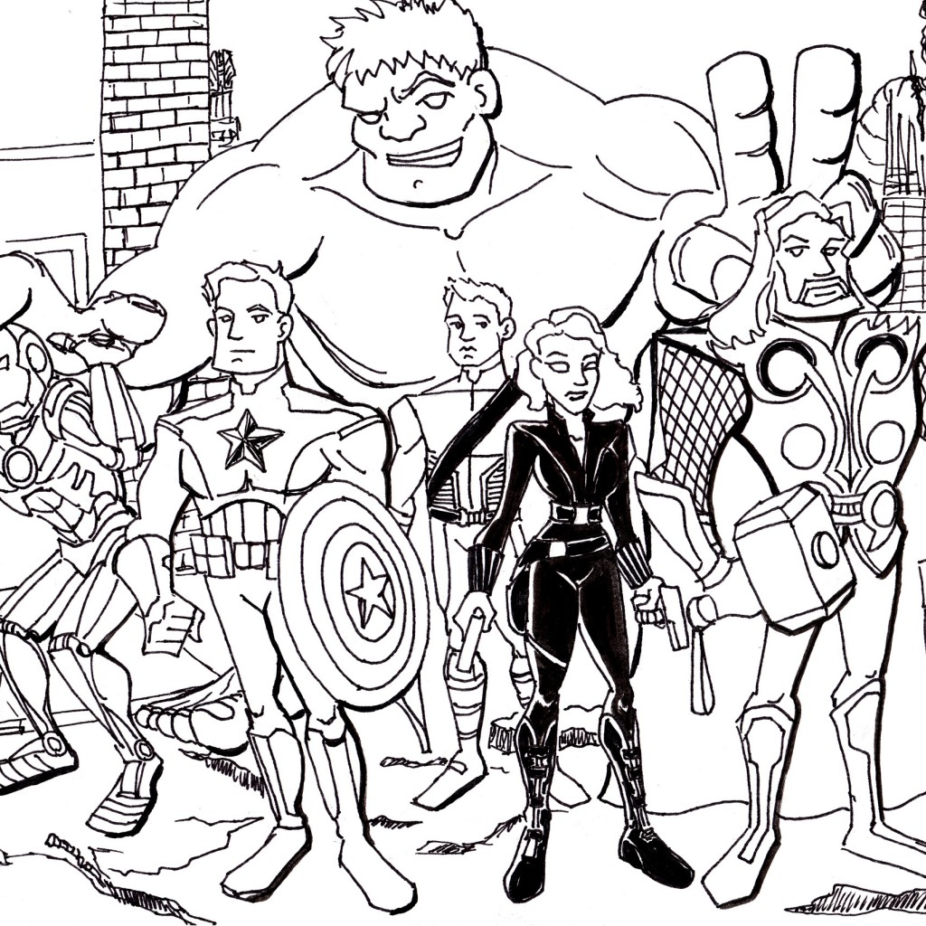 Free printable coloring pages avengers - Avengers Coloring Pages