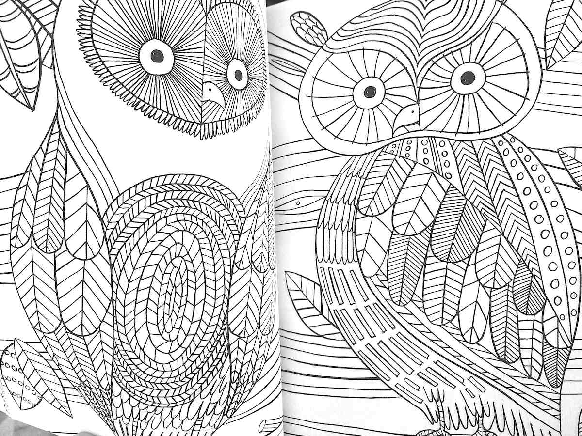Art therapy coloring pages to download