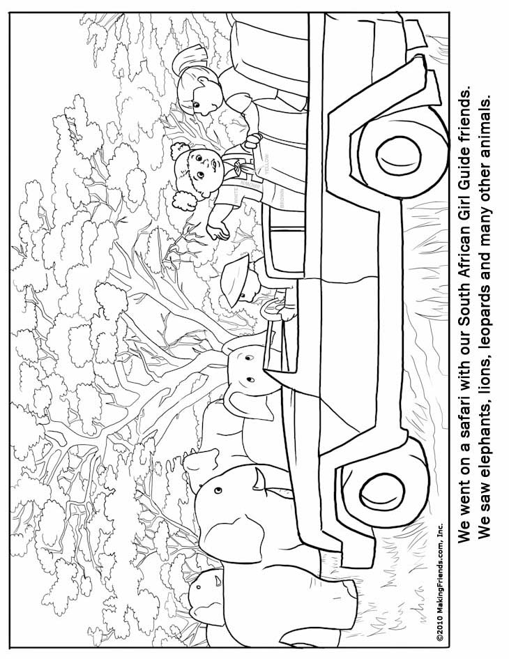 Africa coloring pages to download and print for free