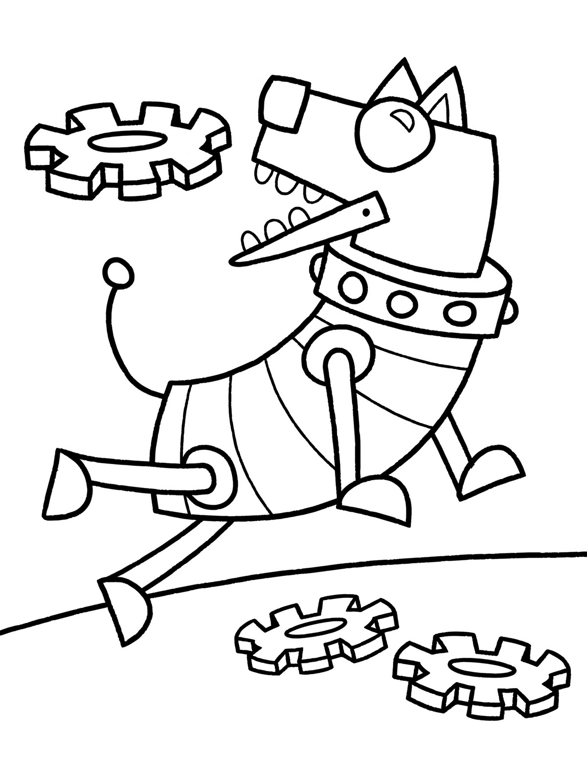 Paw patrol coloring pages robo dog - Little Robots Coloring Pages