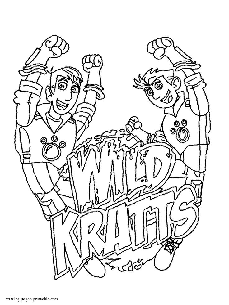 Wild kratts coloring pages download and print for free