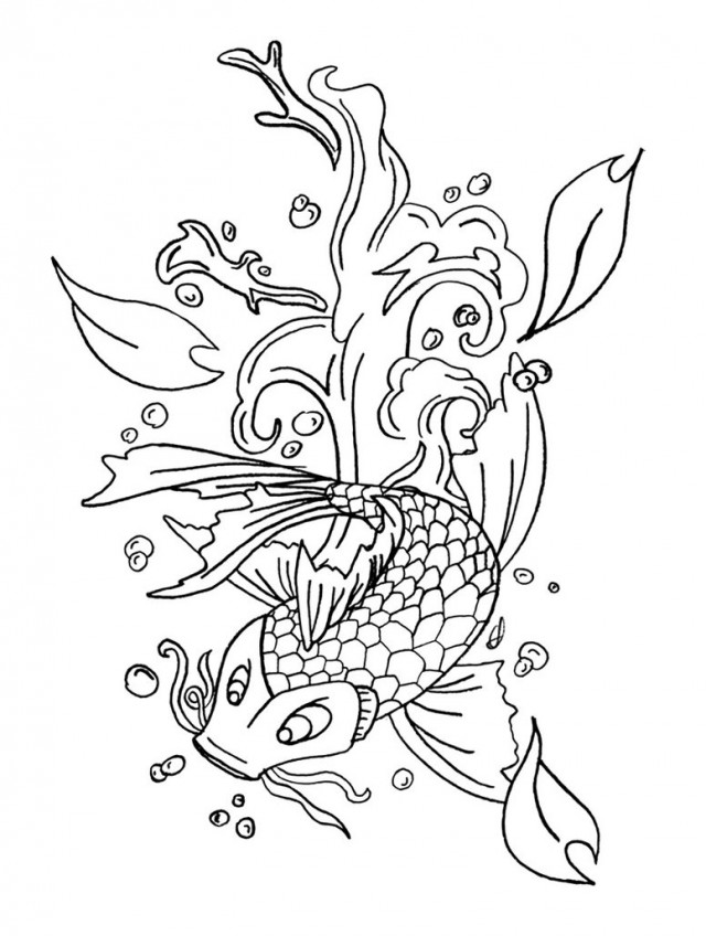 japanese koi coloring pages - photo#39