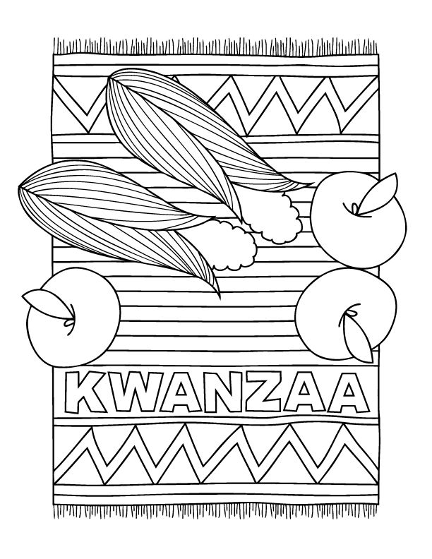 coloring pages kwanzaa - photo#6