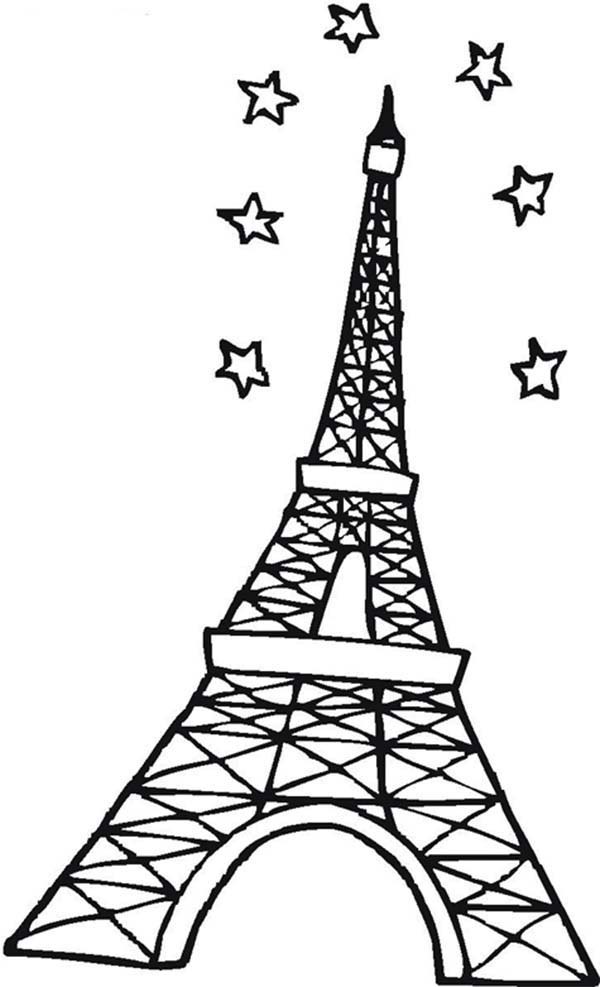 Eiffel Tower Detailed Coloring Pages Coloring Coloring Pages