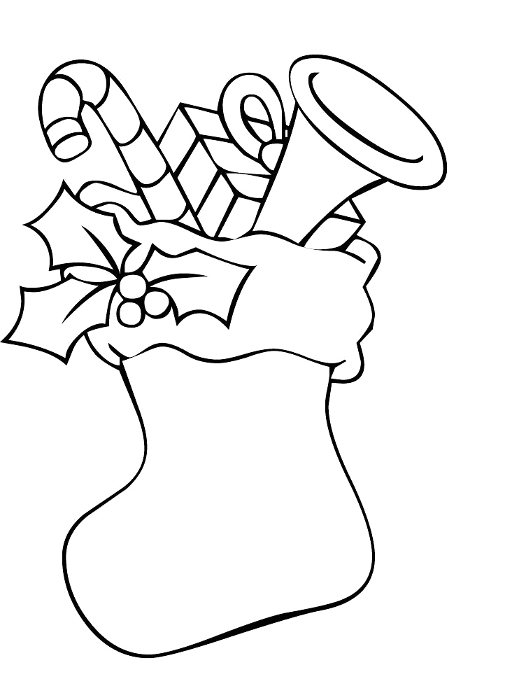 coloring pages christmas stockings - photo#18