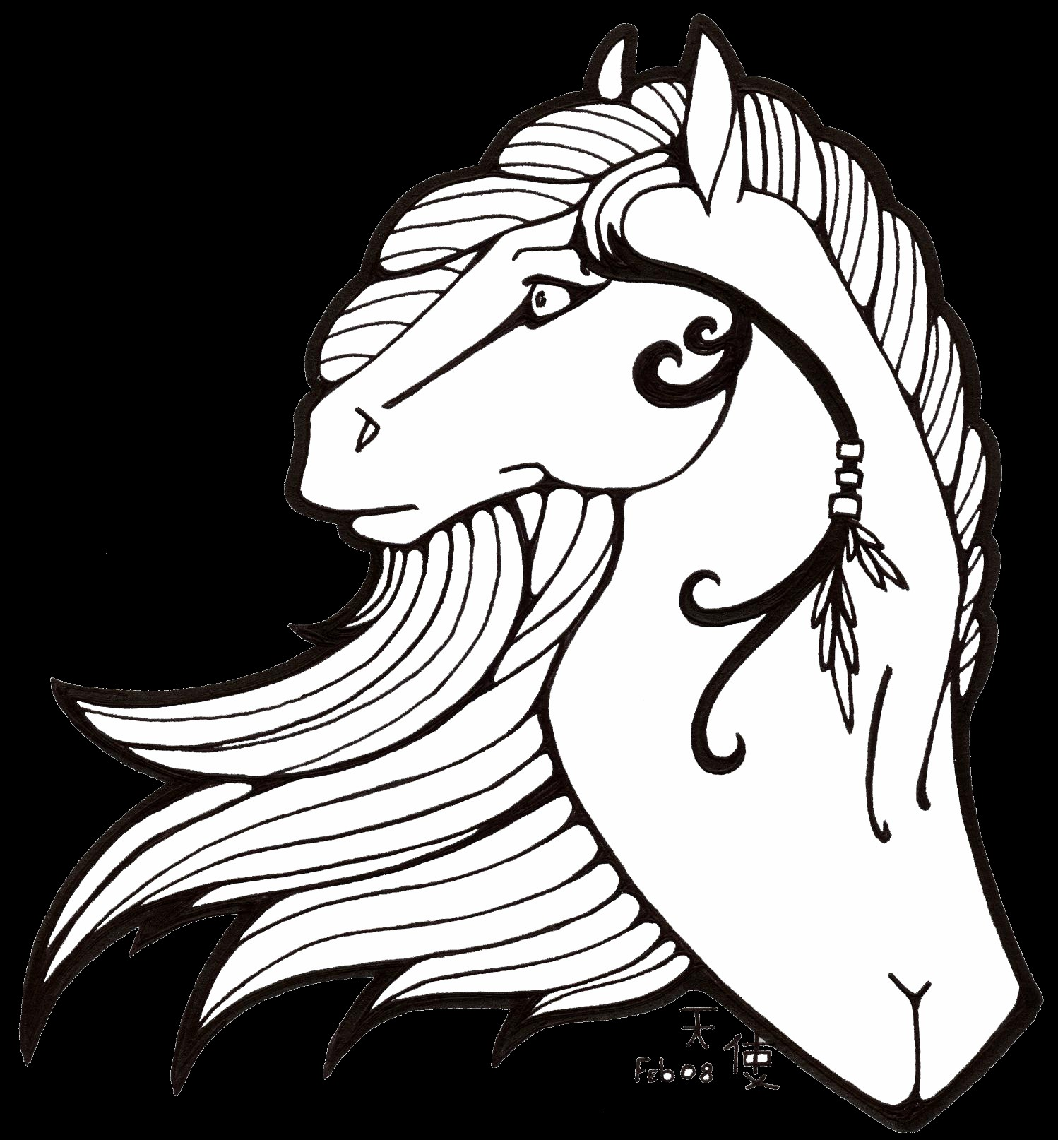 Cartoon horses coloring pages download