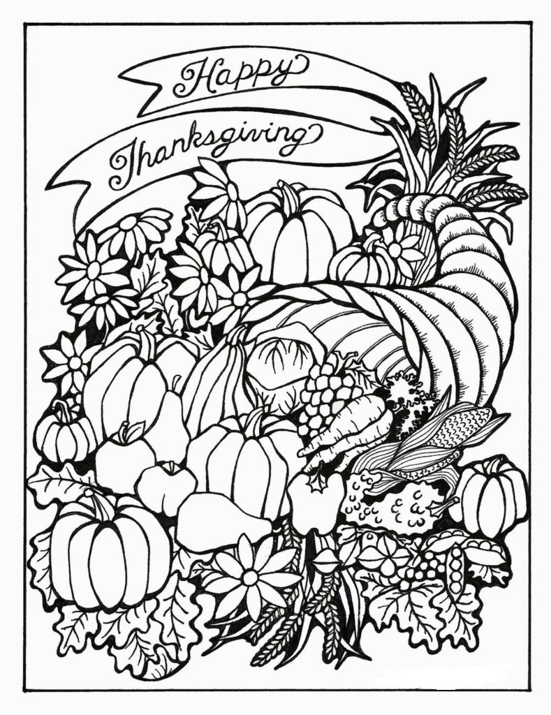 Free N Fun Thanksgiving Coloring Pages : Thanksgiving Coloring Pages For Adults to download and print for free