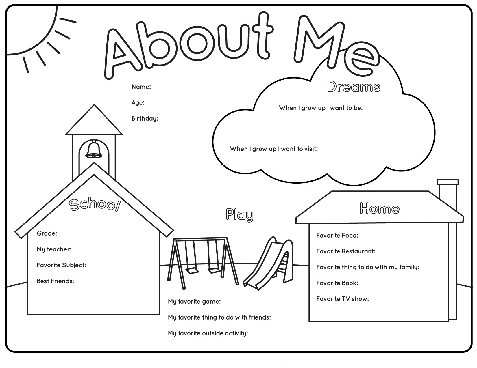 all about me coloring pages to download and print for free
