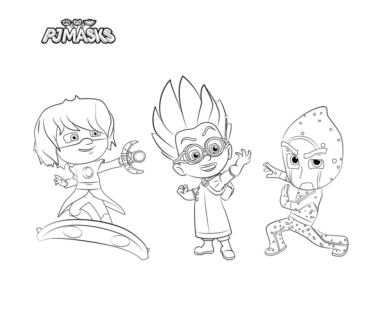 photograph relating to Printable Pj Masks Coloring Pages called PJ Masks Bash Printables for No cost