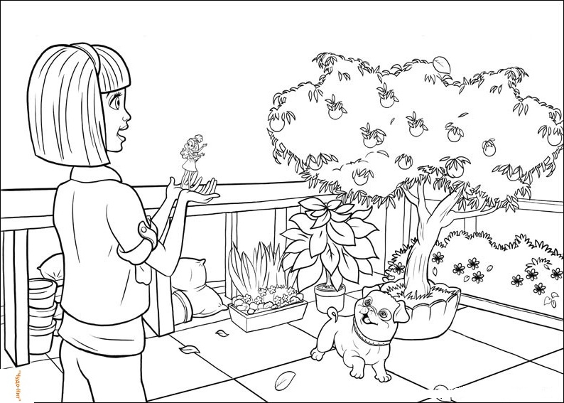 Barbie Thumbelina Coloring Pages To Download And Print For
