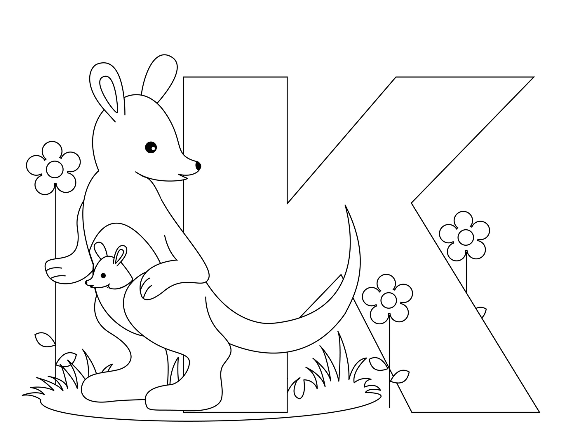 the letter k coloring pages - photo#23