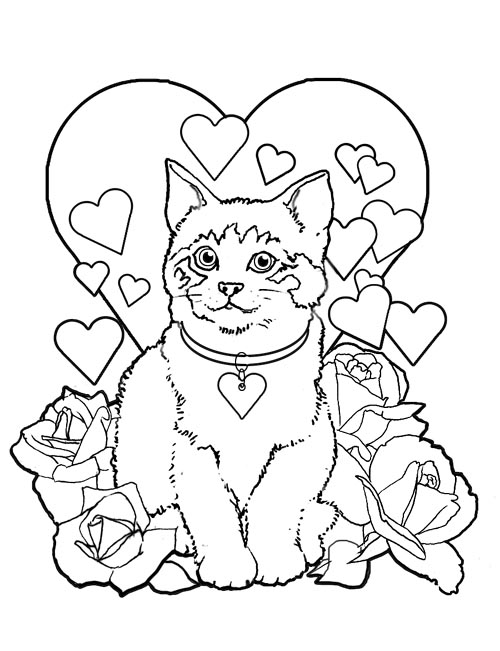 Valentine\'s day coloring pages to download and print for free