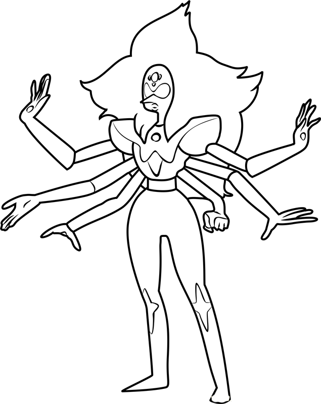 Free Steven Universe coloring pages to print for kids. Download, print and color!