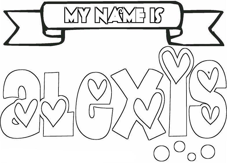 girls names coloring pages - Coloring Pages For Teens