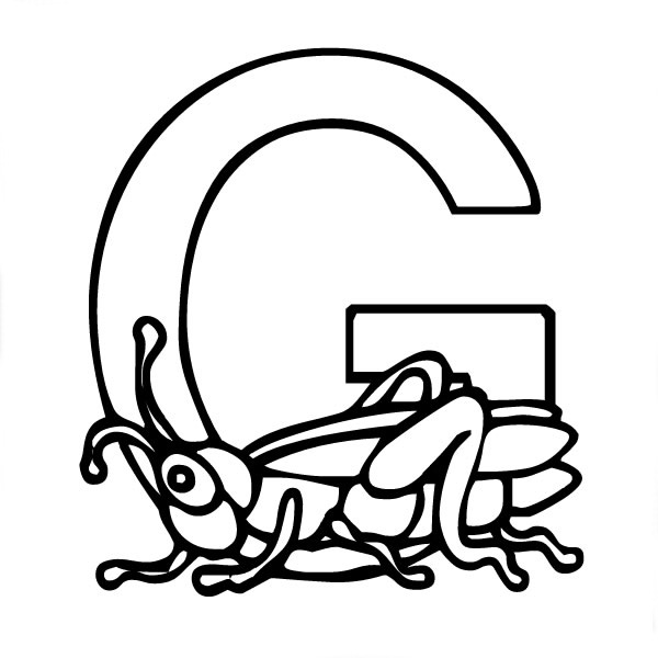 Letter F Coloring Pictures : Letter g coloring pages to download and print for free