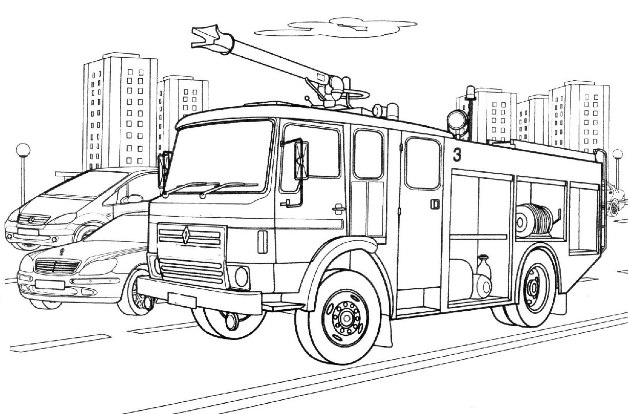 free fire engine coloring pages | Fire engine coloring pages to download and print for free
