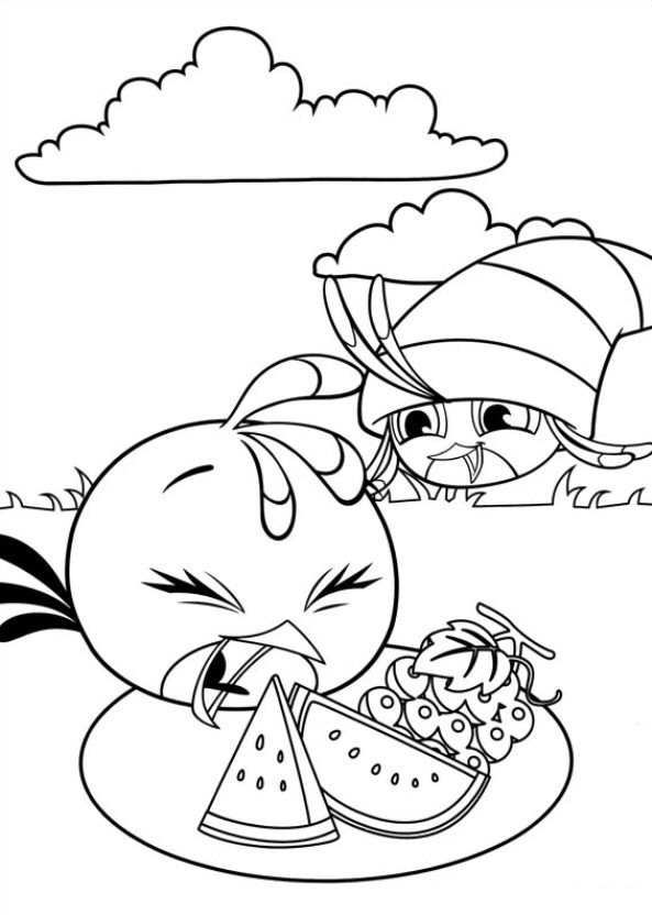 Coloring pages Angry Birds Stella to download and print ...