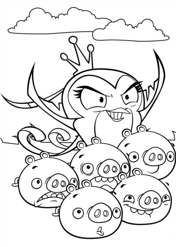 Coloring Pages Angry Birds Stella