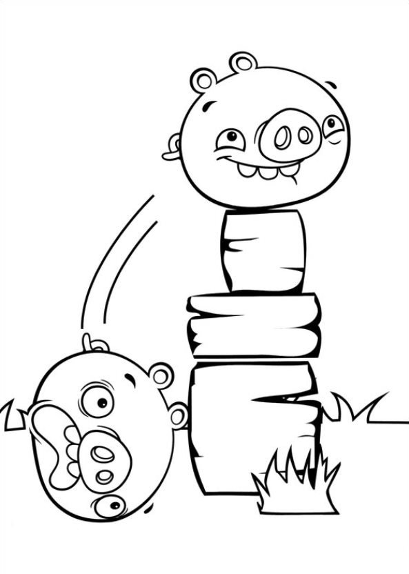 Coloring pages Angry Birds Stella to download and print for free