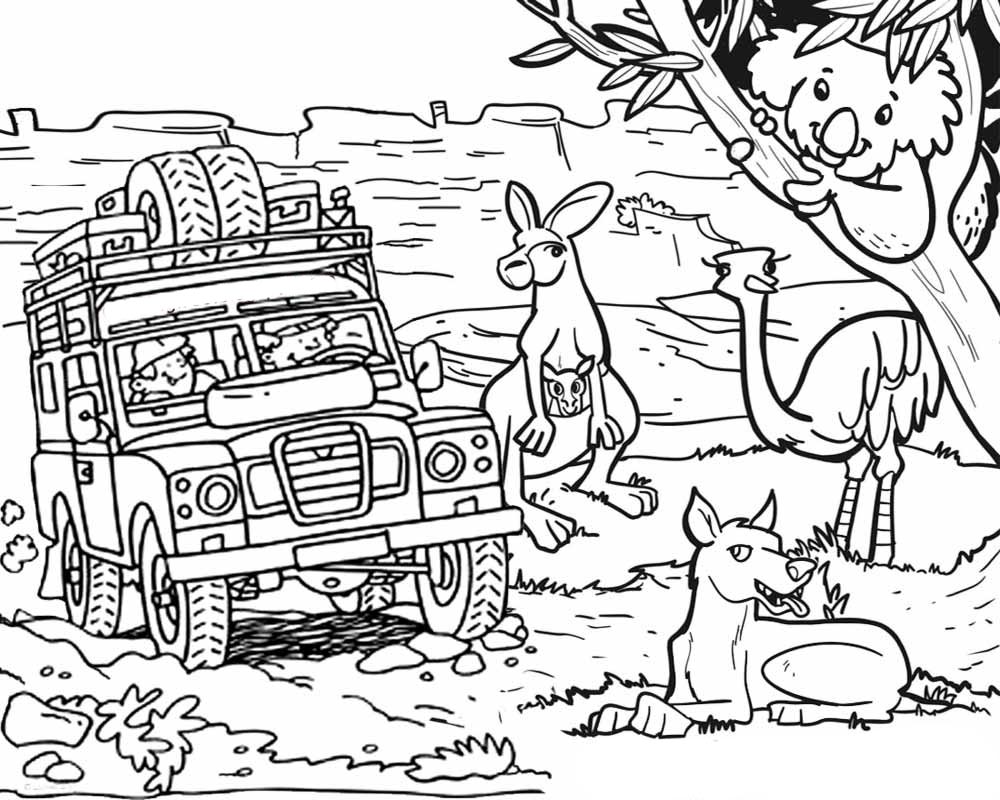 Australia coloring pages to download