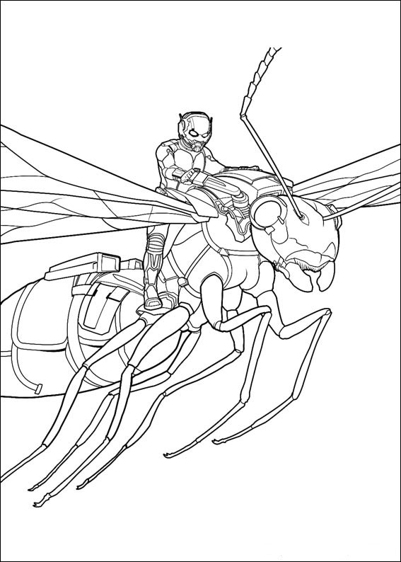 AntMan coloring pages to download