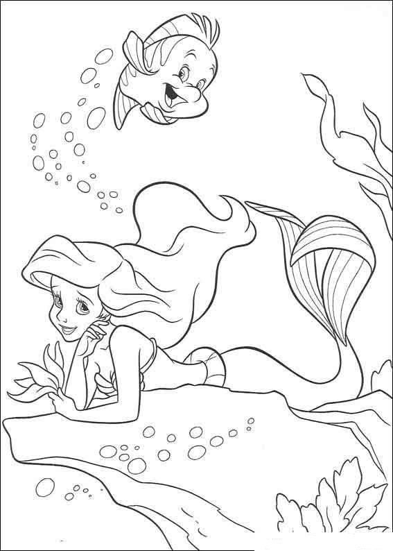 Ariel the Little Mermaid coloring