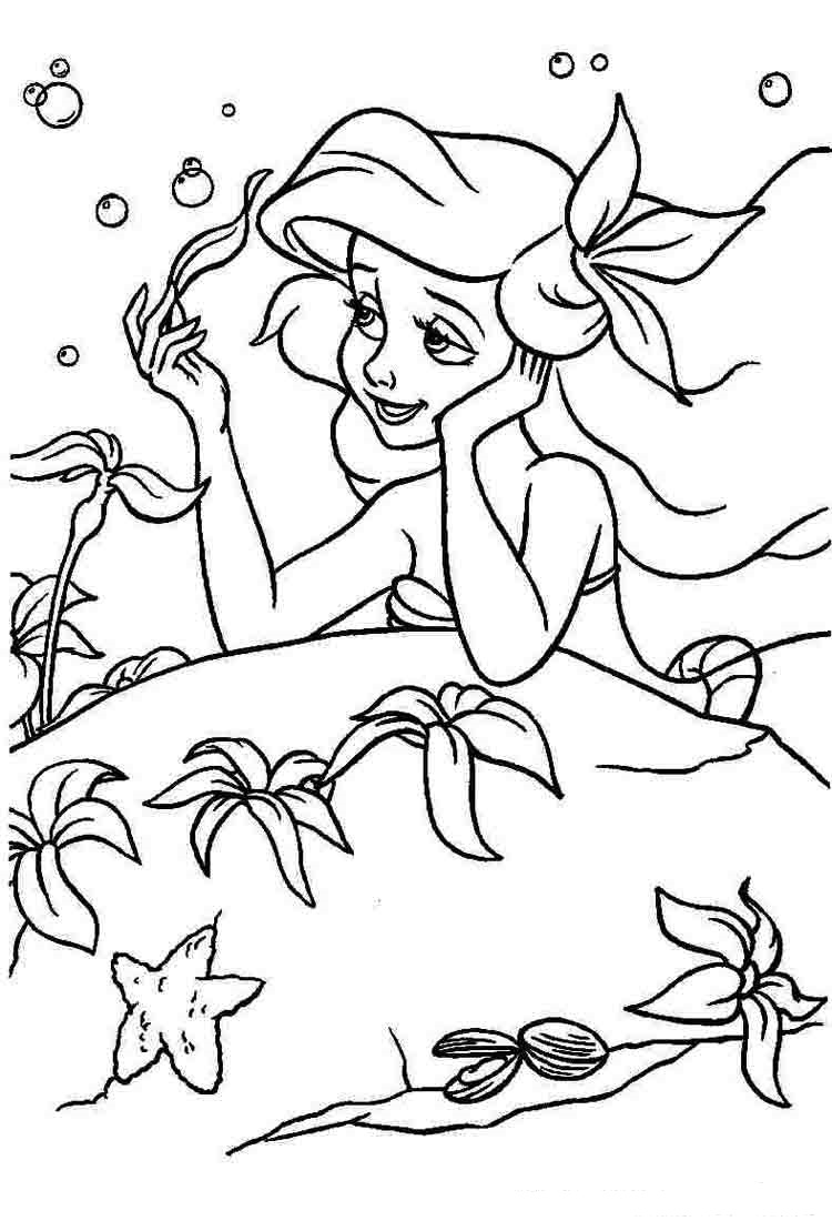 ariel the little mermaid coloring pages for girls to print for free