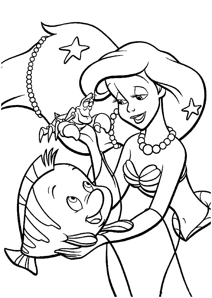 Ariel the Little Mermaid coloring