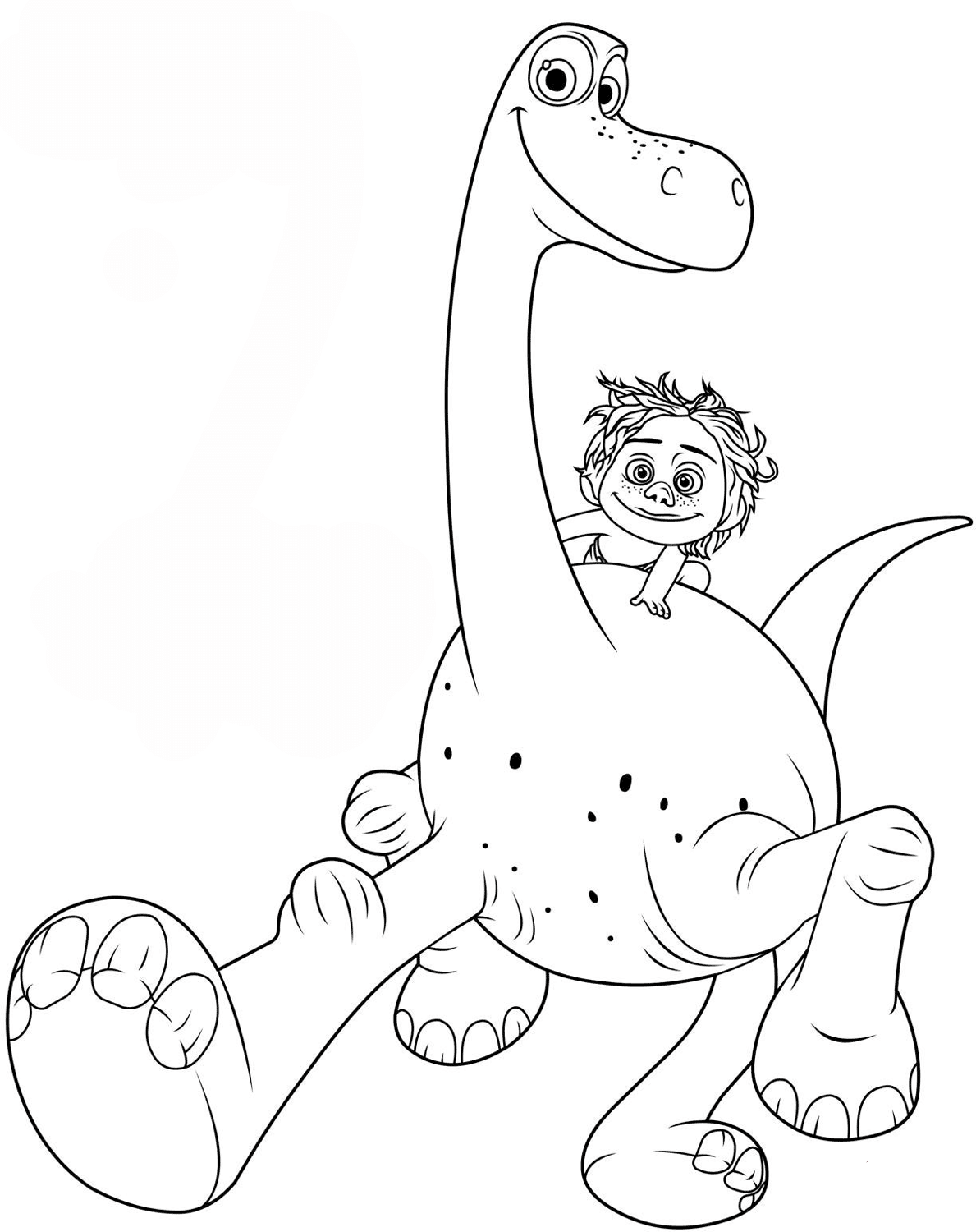 The good dinosaur coloring pages to download and print for ...