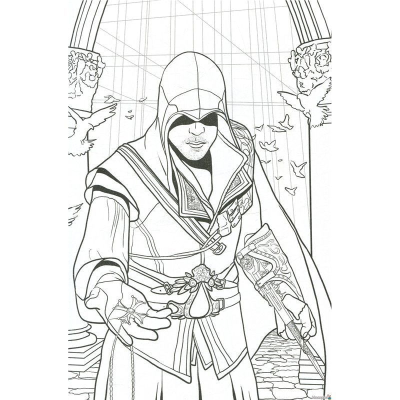 Assassin Coloring Pages To Download And Print For Free