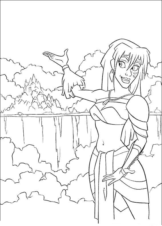 Atlantis coloring pages to download