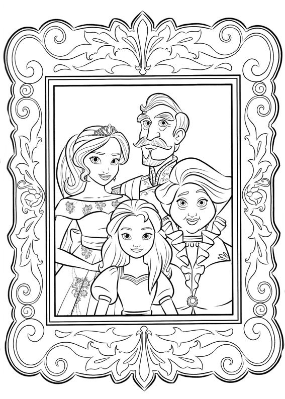 Elena of Avalor coloring pages to download and print for free