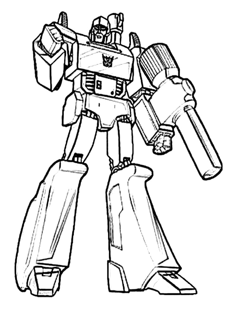Autobot coloring pages for boys