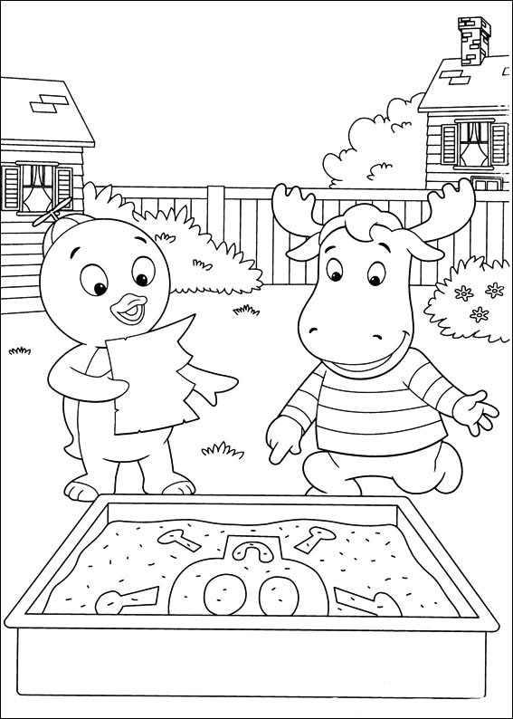 Backyardigans coloring pages to