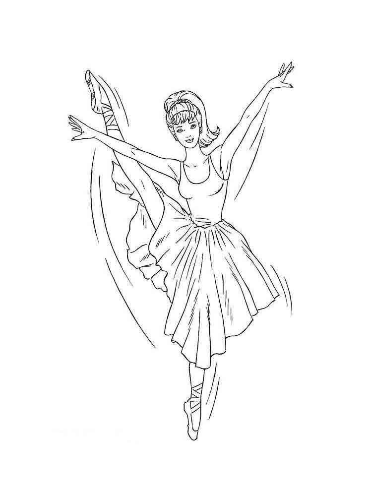 Ballerina Coloring Pages for childrens