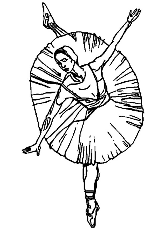 ballerina coloring pages - Kitty Ballet Coloring Pages