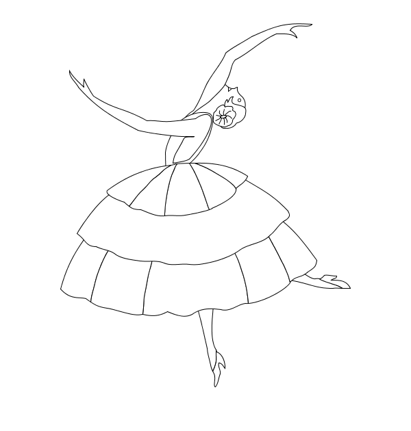 Ballerina Coloring Pages First Position  Coloring Pages For Kids
