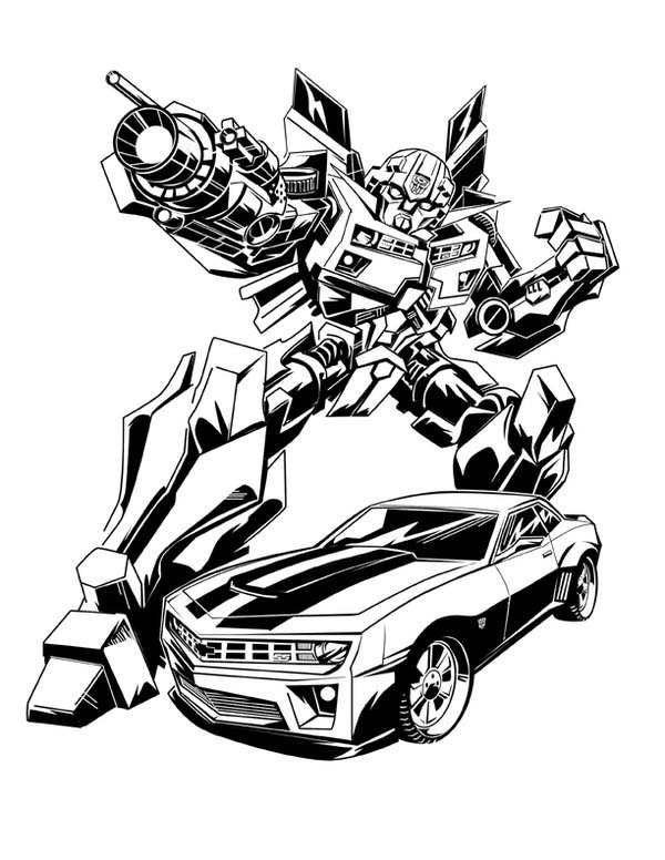transformer bumblebee car coloring pages - photo#10