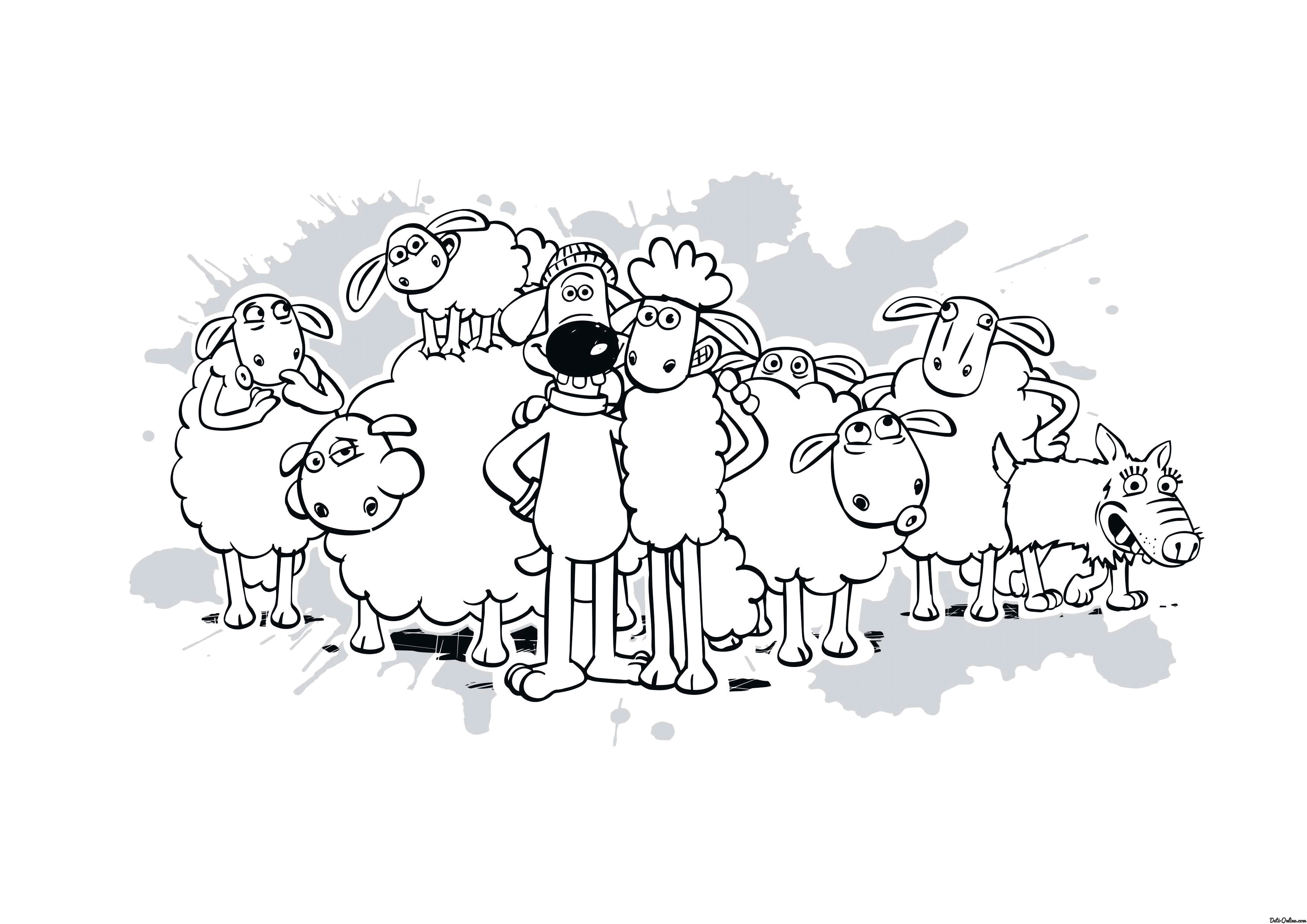 Shaun The Sheep Coloring Pages For Kids To Print For Free Shaun The Sheep Colouring Pages