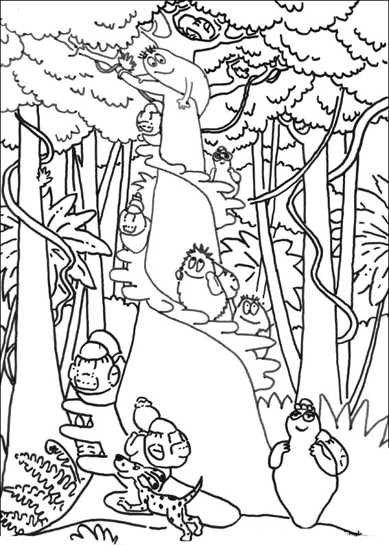 barbapapa coloring pages to download and print for free