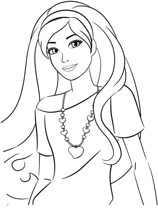 at the same time pictures colored on the computer screen can be printed on a color printer so you can create your own collection of pictures and decorate - Barbie Coloring Page