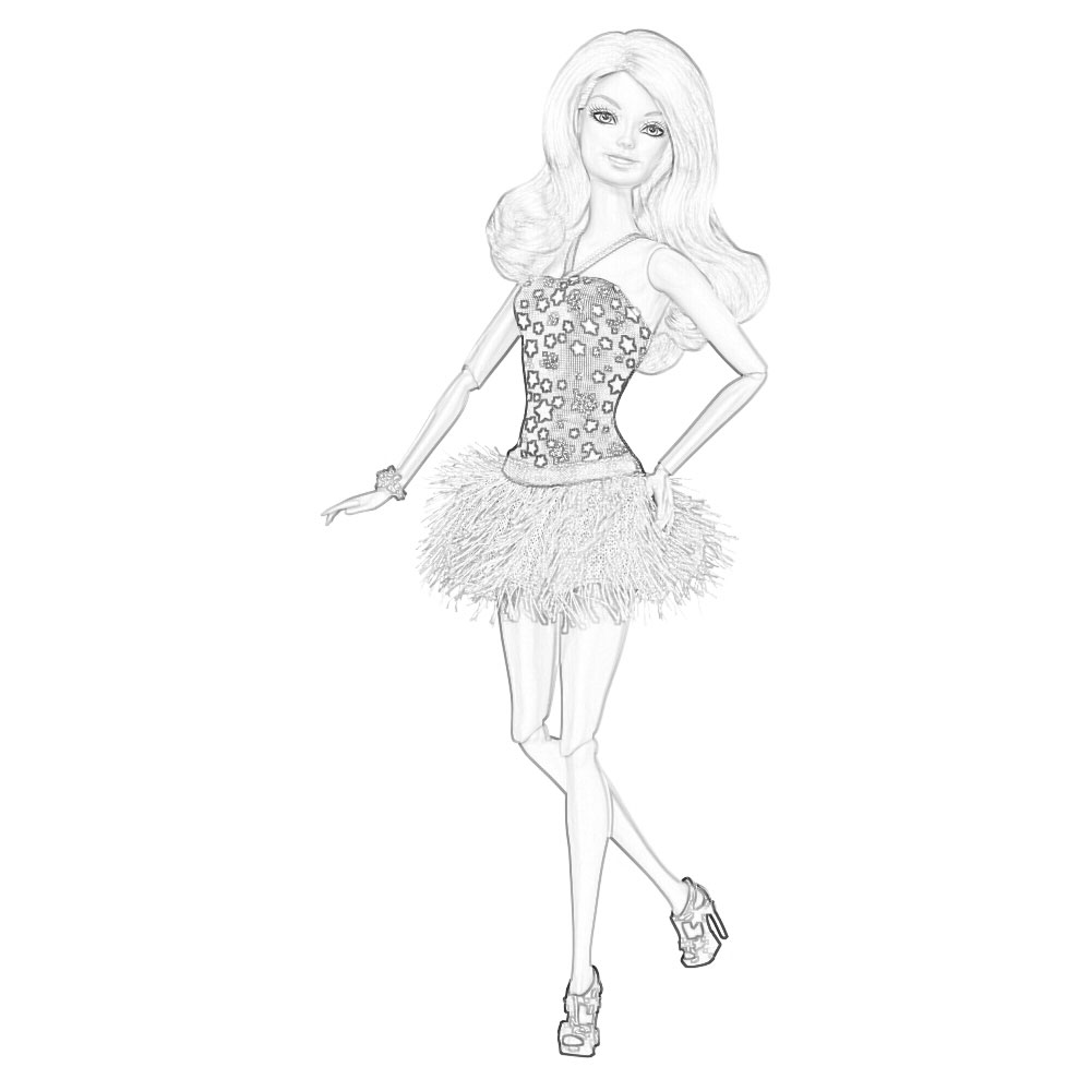 barbie coloring pages to print for free mermaid princess dolls