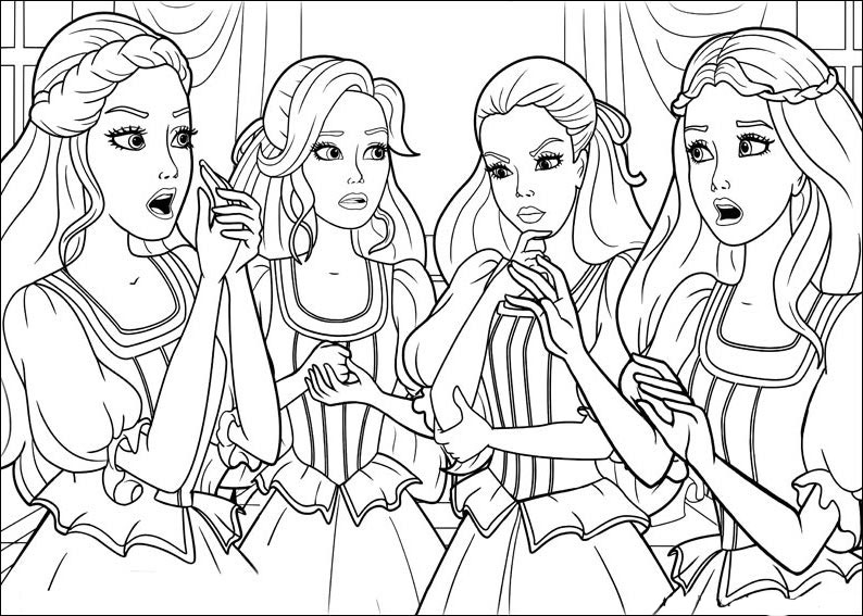 free barbie and the three musketeers coloring pages to print for kids download print and color lego friends coloring pages - Barbie Friends Coloring Pages