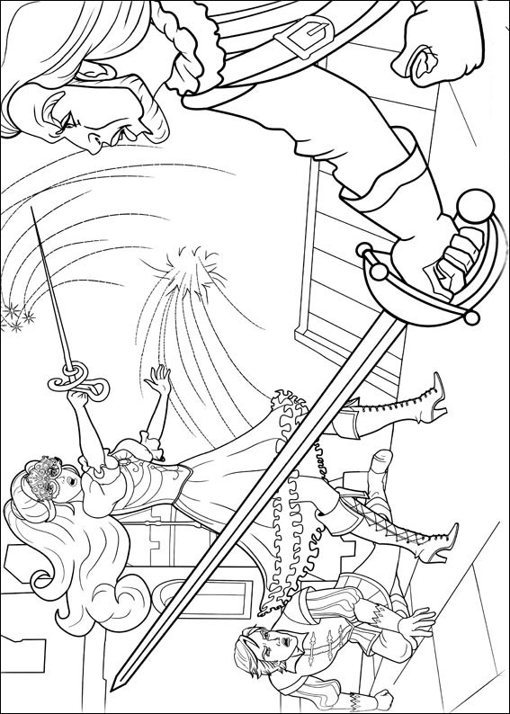 Barbie And The Three Musketeers Coloring Pages To Download