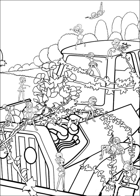 Barbie Thumbelina coloring pages to download and print for ...