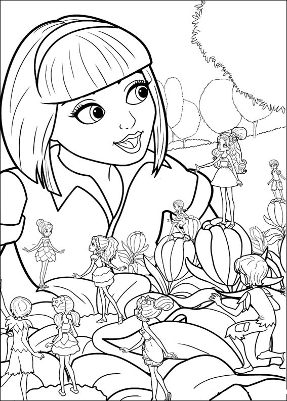 Barbie Thumbelina coloring pages to download and print for free