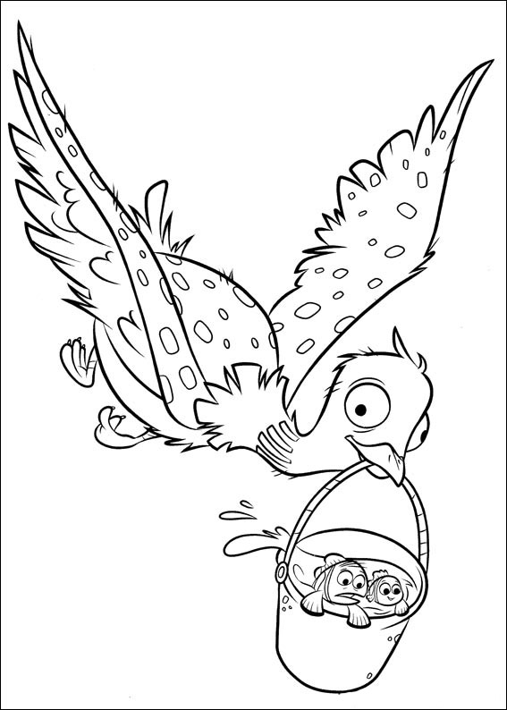 becky g coloring pages | Finding Dory coloring pages to download and print for free