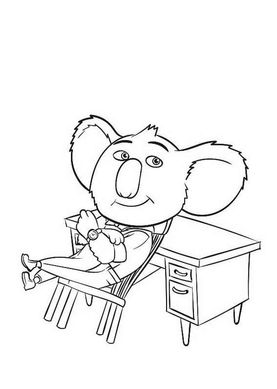 Sing Movie coloring pages to download